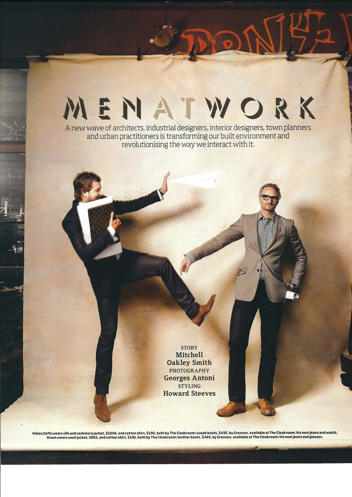 GQ Men at work - Styling by Howard Steeves