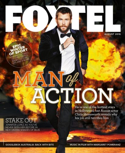 Foxtel Magazine - Christian Hemsworth